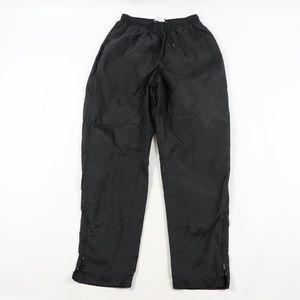 Vintage Nike Swoosh Logo Nylon Gym Pants Black M